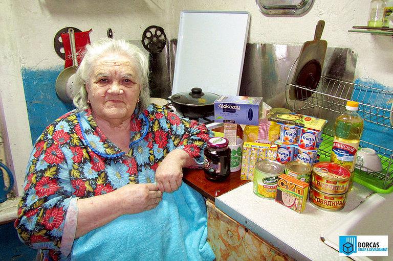 Бабушки и дедушки из Тульской области получили в подарок полотенца и йогурты
