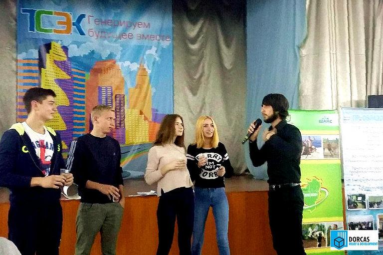 Лектор проводит профилактическую акцию в колледже в Тольятти