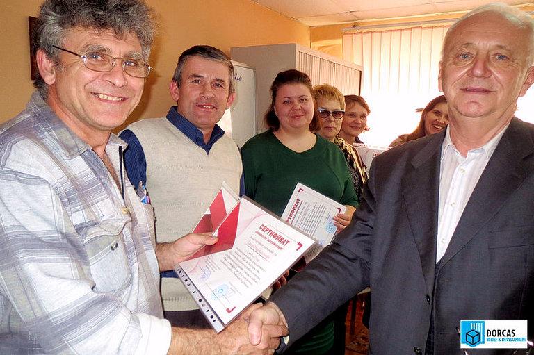 Профессор Фокин с участниками семинара по социальной геронтологии в Туле