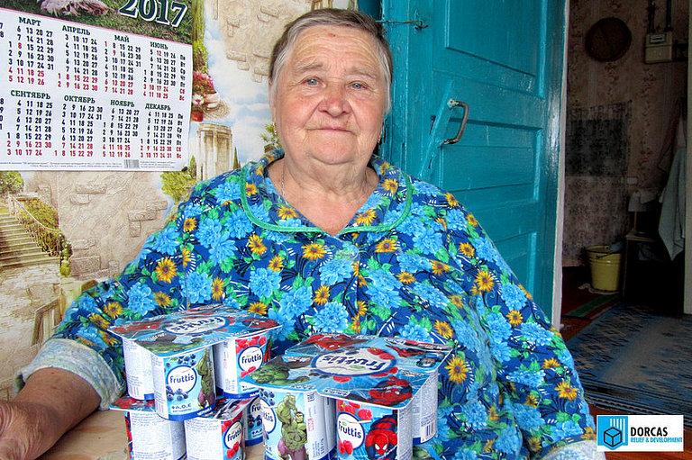 Бабушки и дедушки из Тульской области получили йогурты от ООО «Кампина»