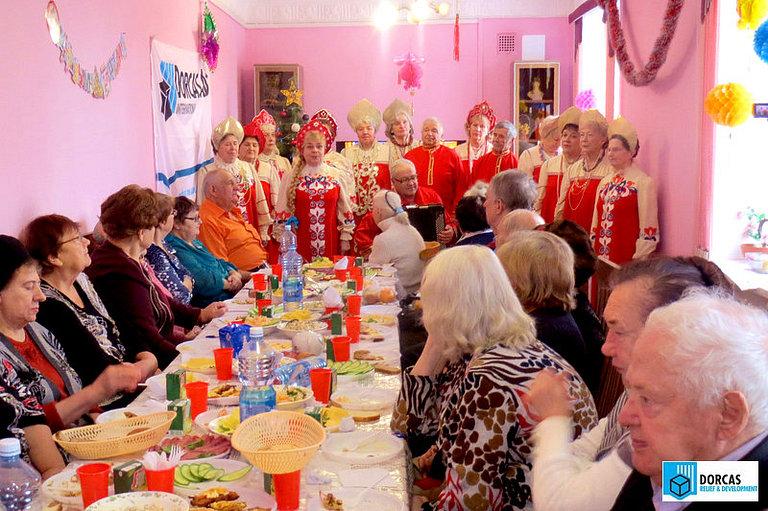 Рождественский праздник для пенсионеров в Тульской области