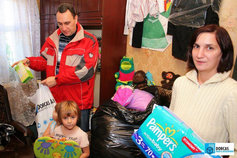 Семья из Пензенской области получила набор продуктов, одежду и гигиенические средства