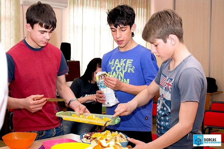 Кулинарный мастер-класс в одном из детских домов Ставропольского края