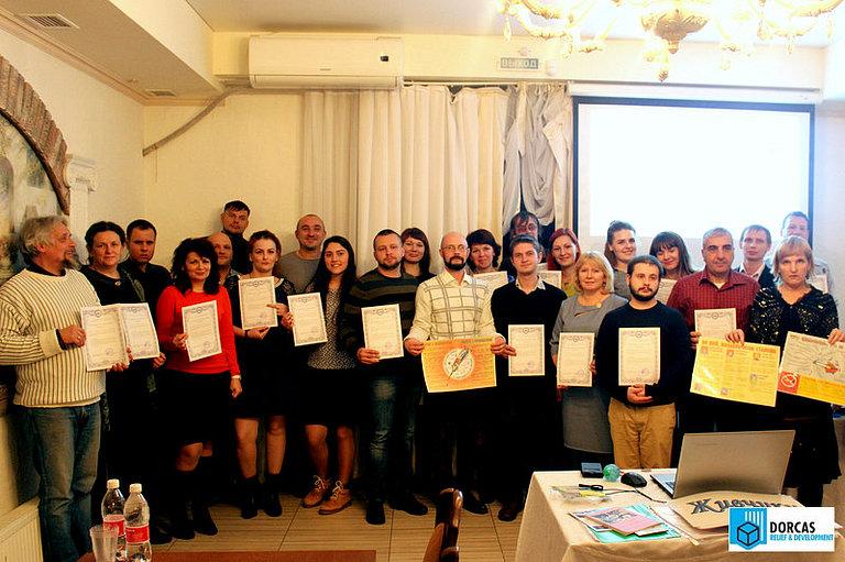Елена Колбенева с участниками семинара в Ставрополе